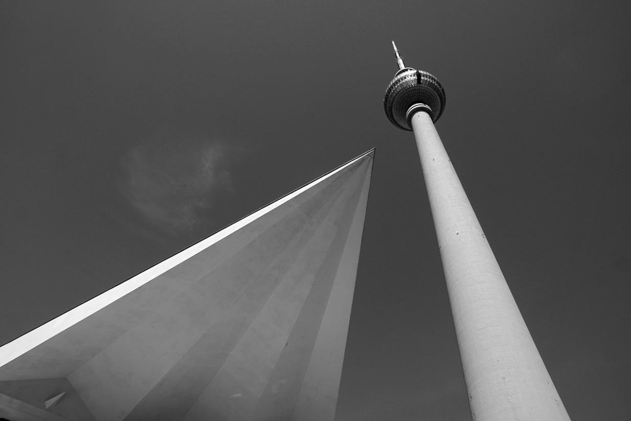TV tower, East Berlin, c-type print, Mike Tedder