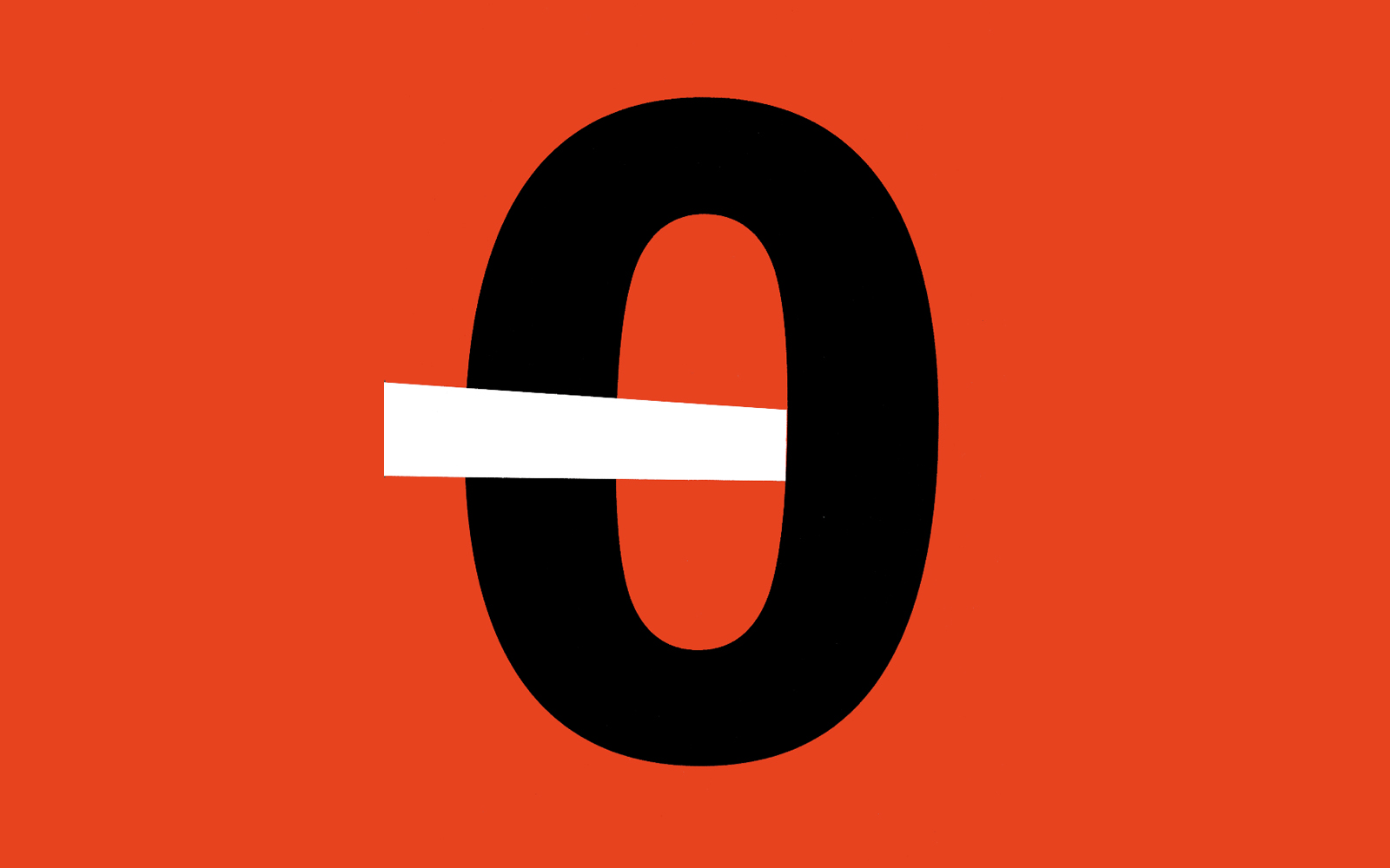 Zero Divided, cut paper collage, Mike Tedder