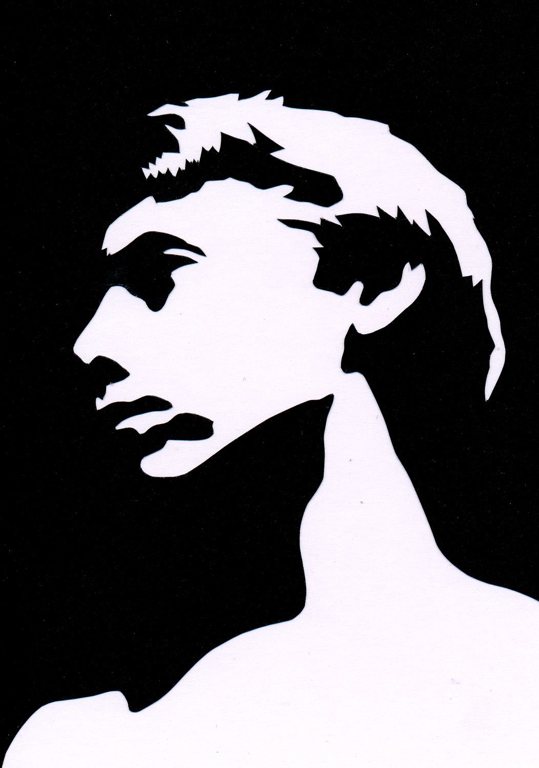 In Light, cut paper collage, Mike Tedder