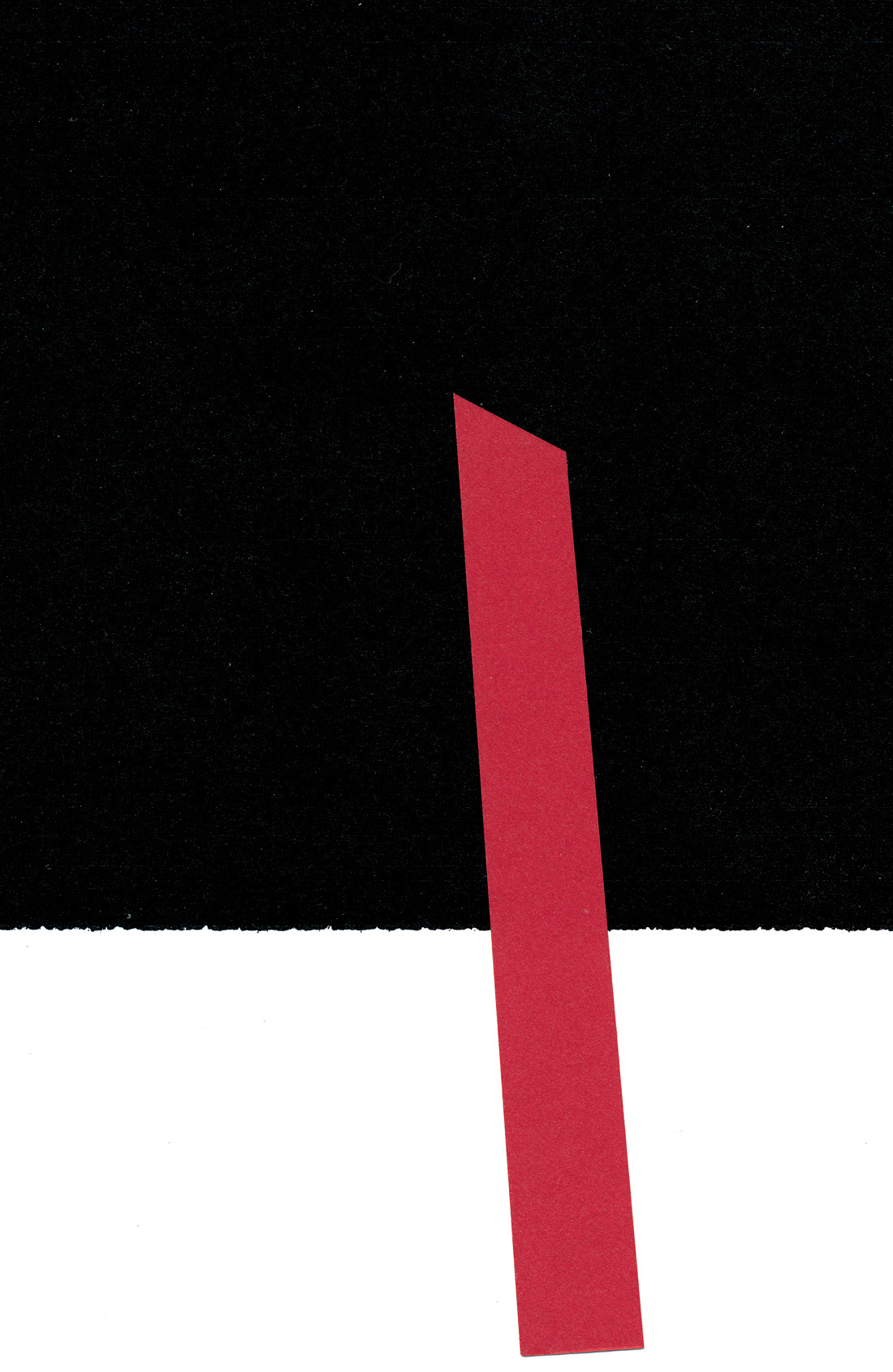 Turm, cut paper collage, Mike Tedder