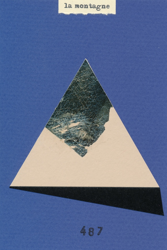 La Montagne, cut paper collage, Mike Tedder