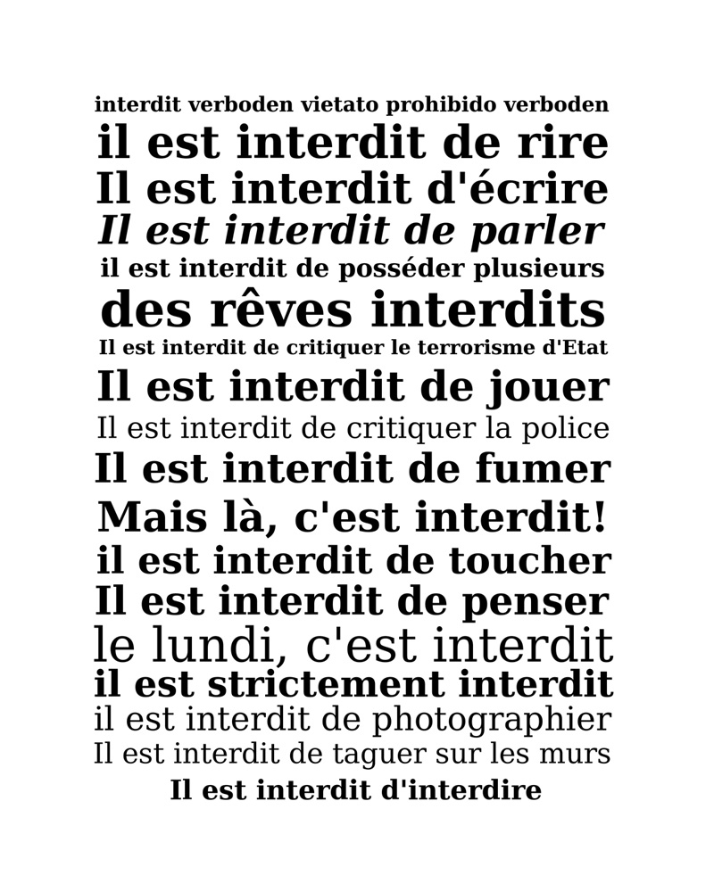 Interdit, c-type print, Mike Tedder