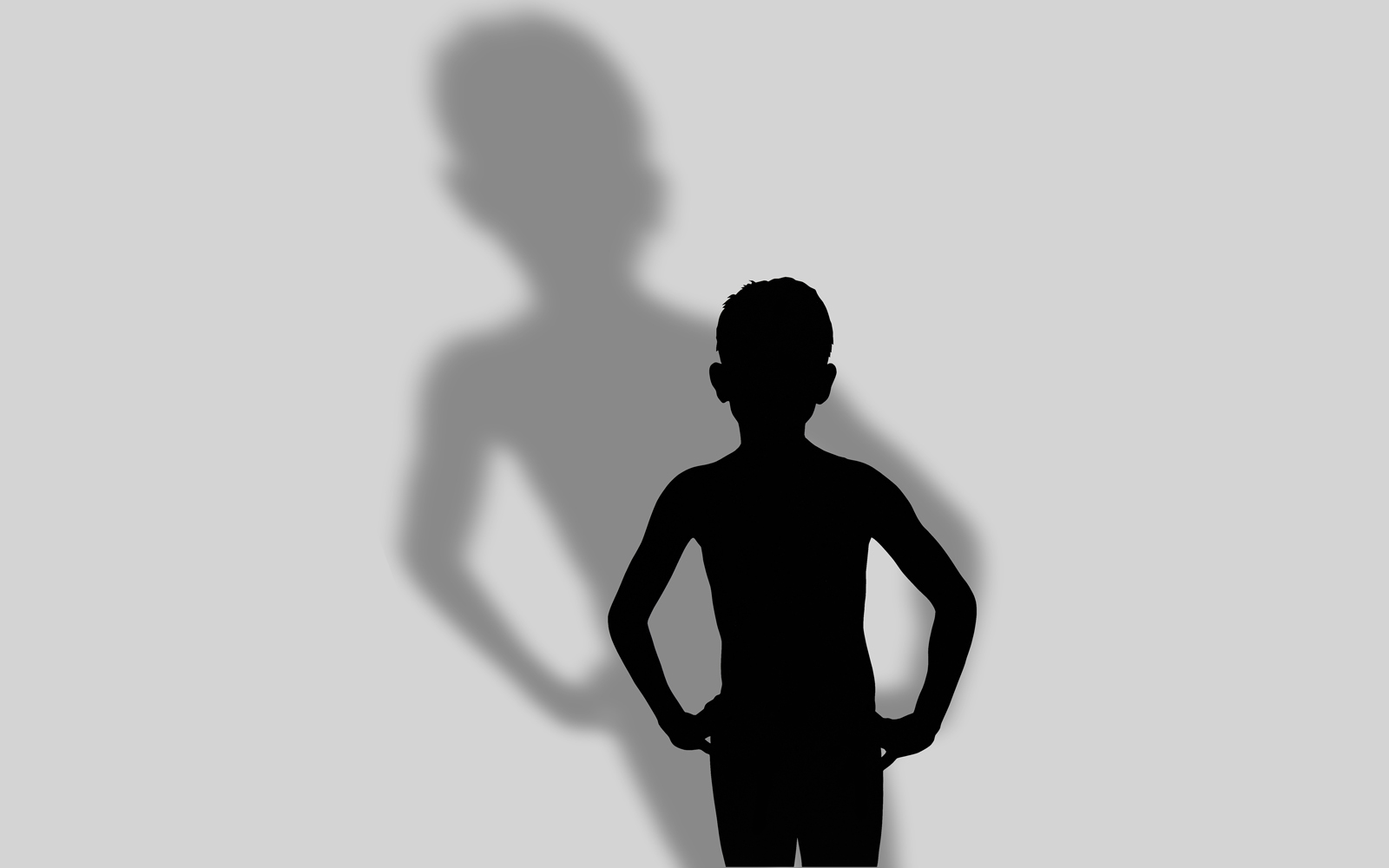 Conversation with my shadow, cut paper collage, Mike Tedder