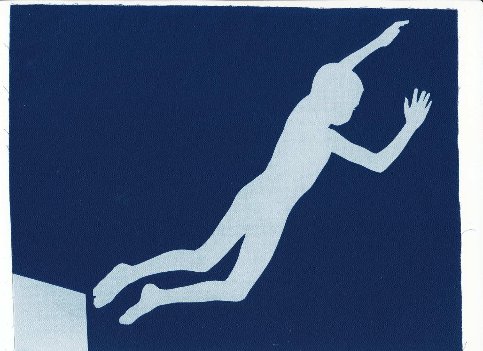 True Faith, cyanotype on cotton fabric, Mike Tedder