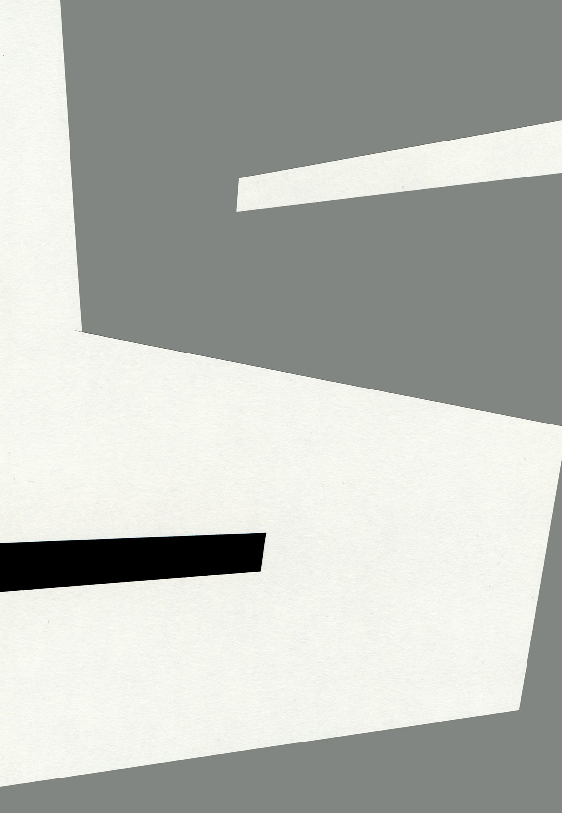 Intervention, cut paper, Mike Tedder