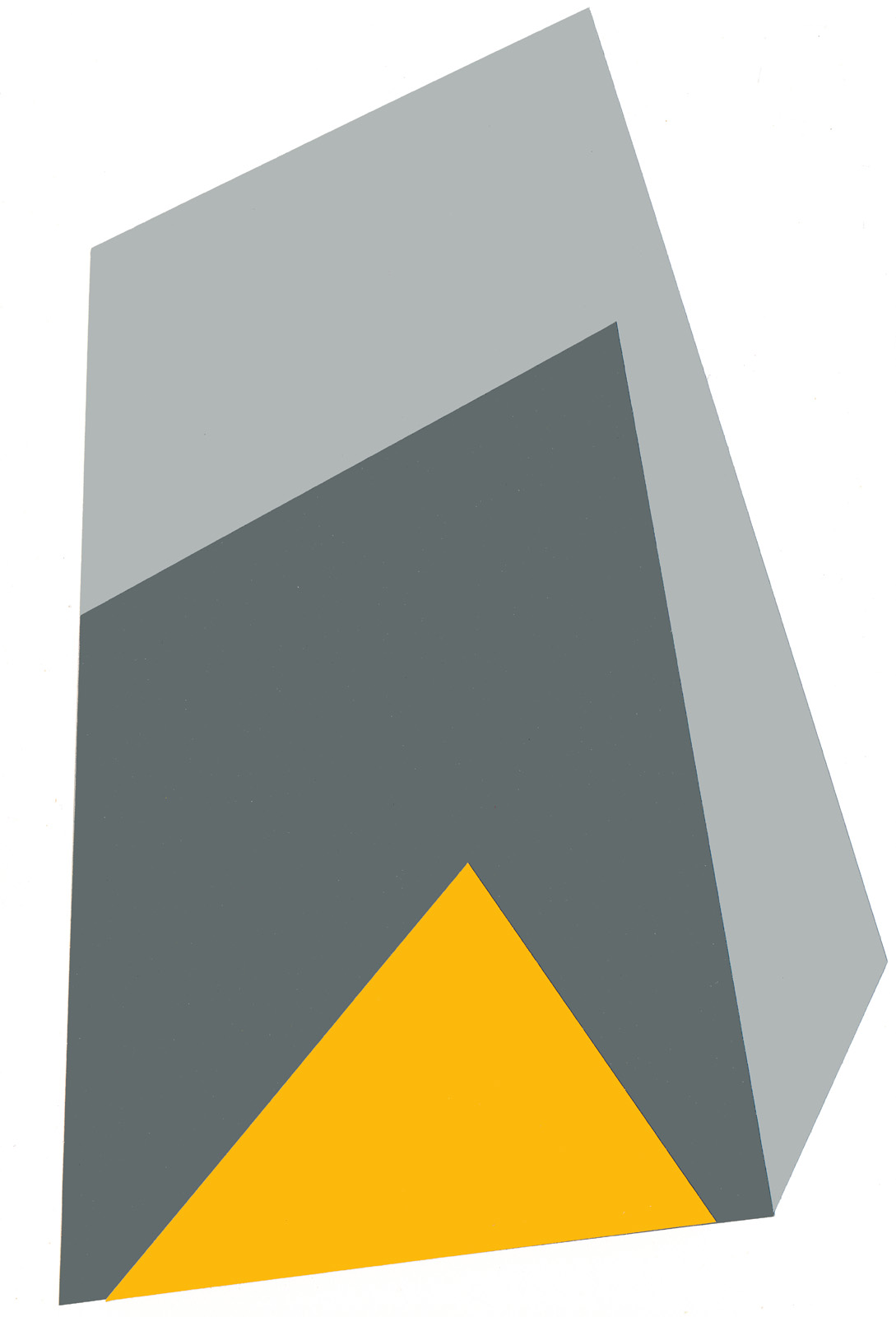 In the Mountains, cut paper collage, Mike Tedder
