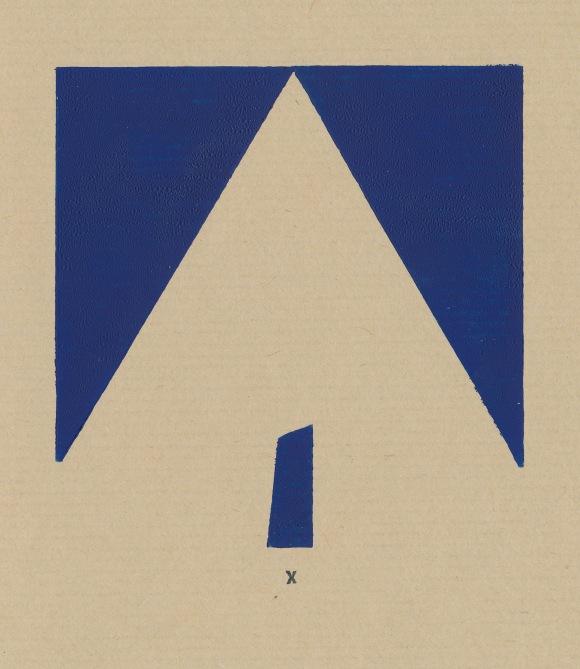 Orienteering, block print, Mike Tedder
