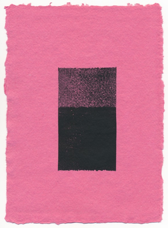 Tickled Pink, monoprint, Mike Tedder
