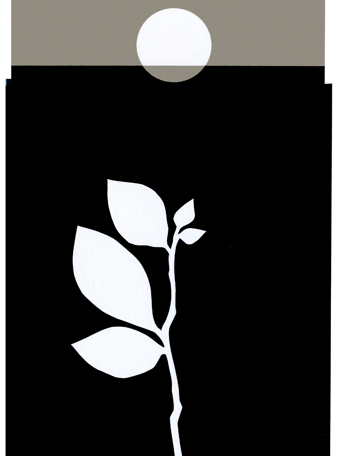 New Dawn, cut paper collage, Mike Tedder