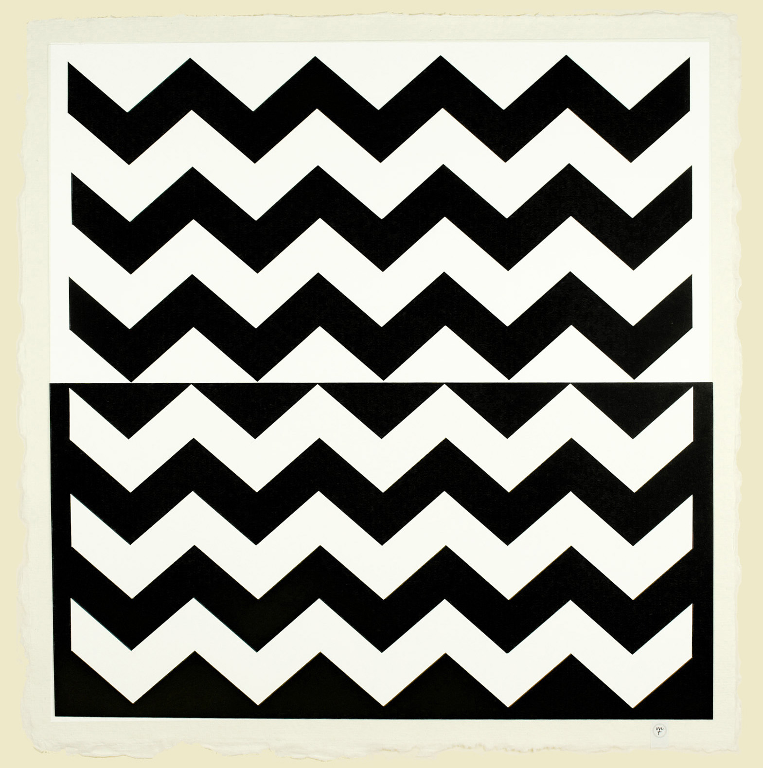 La Mer, paper-cut collage